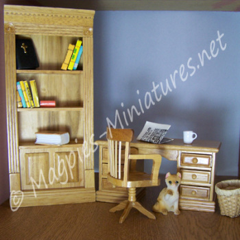 3 Piece Office / Study Set - Oak