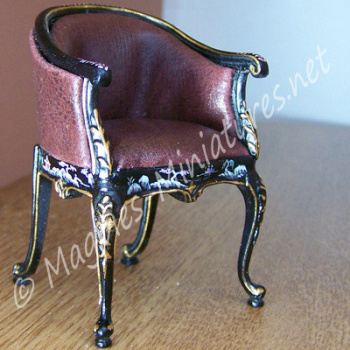 Bespaq Black handpainted Chair-REDUCED TO CLEAR