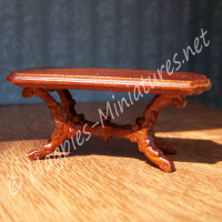 SO16 - Victorian Livingroom - Tea Table  - Jiayi - 1:24 24th Scale