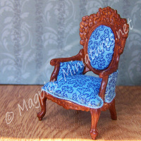 SO16 - Victorian Livingroom - Gent's Chair - Jiayi - 1:24 24th Scale