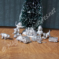 White Metal Toys (Packet of 10)