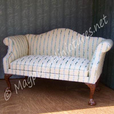 8024 - Green Striped Sofa - Jiayi