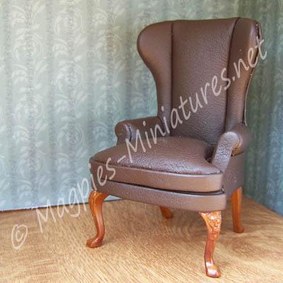 8035 - Dark Brown Leather Chair - Jiayi