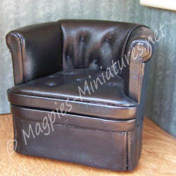 8039 - Leather Chair black- Jiayi