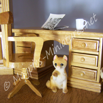 t4275 office study desk set pine 2