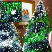 Star Tinsel Green