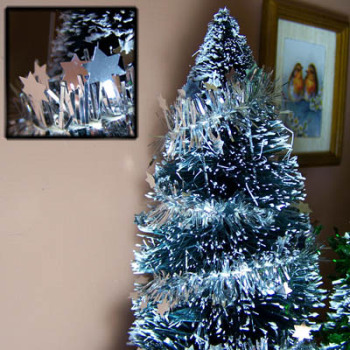 Star Tinsel Silver