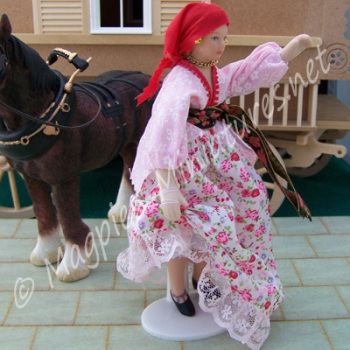 Gypsy in Red and Pink