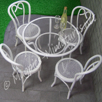 Five Piece Patio Set White