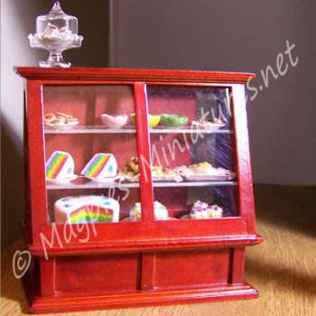 Shop Display Cabinet, Mahogany