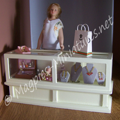Shop Counter Unit, Cream