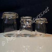 3 Glass Bottling Jars