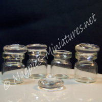 Glass Stopper Jars Set of 4