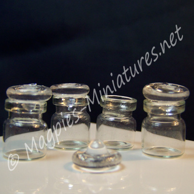 Glass Stopper Jars,Set of 4