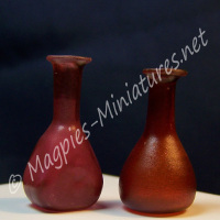 Red Glass Decanter - Pack of Two