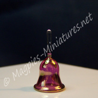 Cranberry Glass Bell