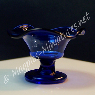 Glass Fruit Plate Blue