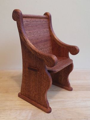 1:12th scale Mahogany Pew Chair Kit