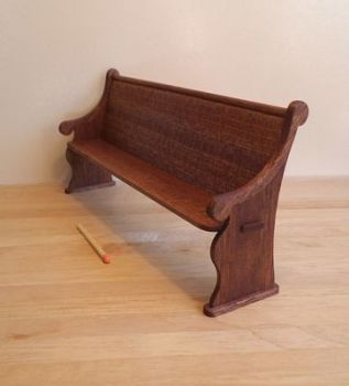 1:12th scale Mahogany Long Pew Kit
