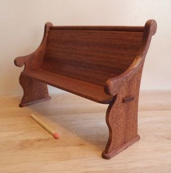 1:12th scale Mahogany Short Pew Kit