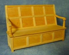 Barewood Charles II Style Settle