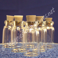Small glass Jars with Stoppers, Pack of 6