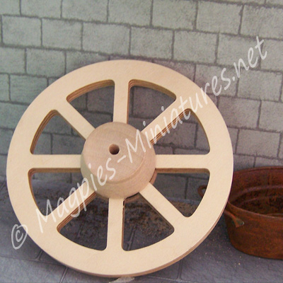 1/12th scale Wooden Wagon Wheel - 77mm diameter