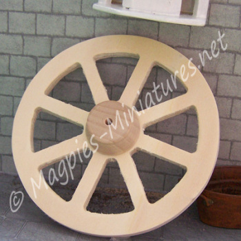 Wooden Wagon Wheel - 100mm diameter
