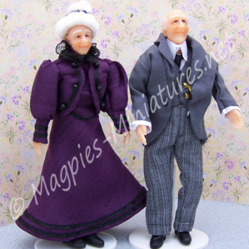 Man and Lady - Victorian Grandparent Set