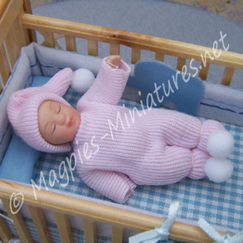 Baby - Girl Sleeping Child in Pink