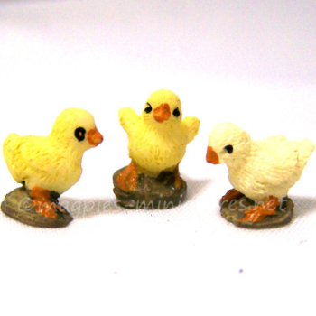 Set of 3 Baby Chicks 1:12