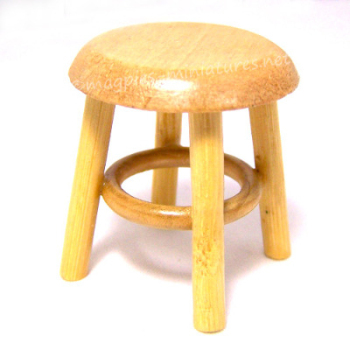 Pine Stool - Side Table