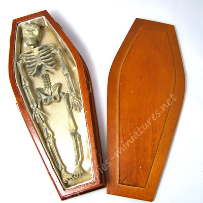 12th scale plastic skeleton in his Coffin