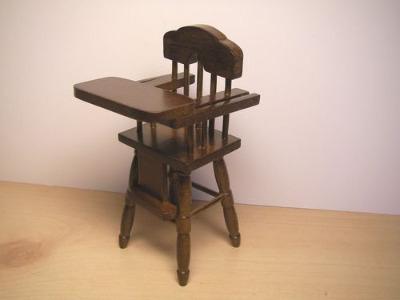 High Chair - Dark Wood