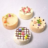 Pack of 4 Decorated Cakes