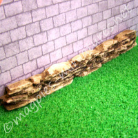 Stone Wall Rockery Edging - Resin
