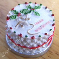 Round Christmas Cake - Resin