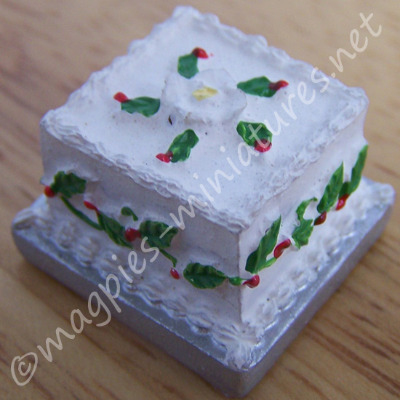 Square  Christmas Cake - Resin