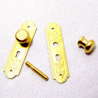 Victorian Solid Brass Door Plate and Doorknob Set