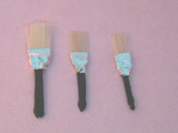 Set of 3 Paint Brushes - 1:12 Scale