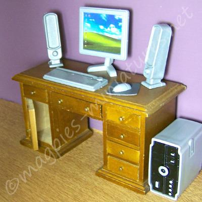 Silver Coloured Desktop Computer System