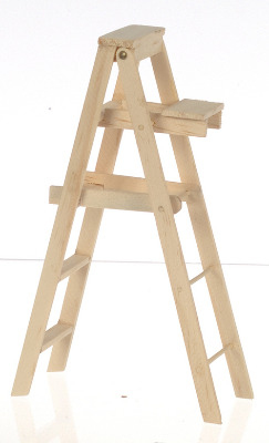 Doll House Miniature-Wooden Stepladder - 5 inches