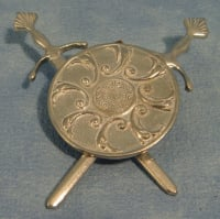 Pewter Shield and Sword Set
