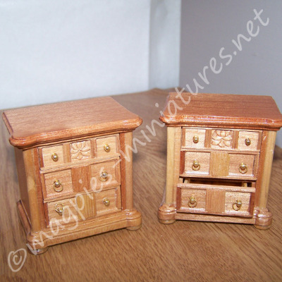 Set Of 2 Cherry Bedside Chest