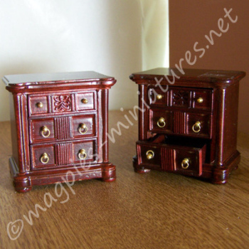 Set Of 2 Mahogany Bedside Chest