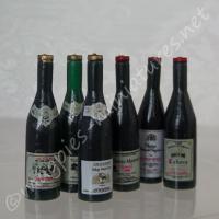 Wine Bottles, Pack of 6