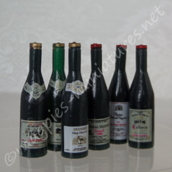 Wine Bottles, Pack of 6