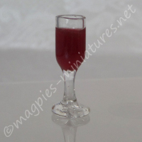 Filled Wine Glass - Red