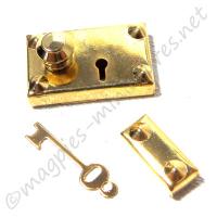 Brass Americana Lock and Key