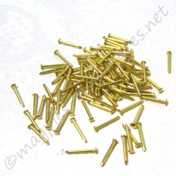 Brass 6mm Pin Nail 100pc/pkg